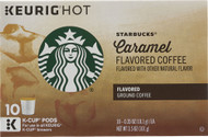 3 PACK of Starbucks Flavored Ground Coffee Caramel -- 10 K-Cups