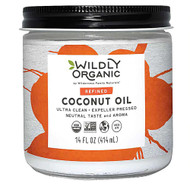 3 PACK of Wildly Organic Refined Coconut Oil -- 14 fl oz