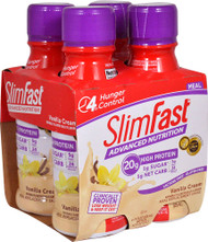 3 PACK of SlimFast Advanced Nutrition High Protein RTD Shake Vanilla Cream -- 4 Bottles
