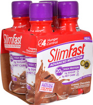 3 PACK of SlimFast Advanced Nutrition High Protein RTD Shake Creamy Chocolate -- 4 Pack
