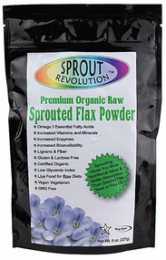 3 PACK of Sprout Revolution Organic Raw Sprouted Flax Powder -- 8 oz