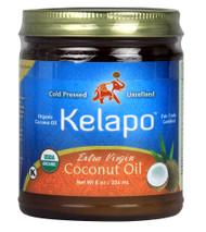 3 PACK of Kelapo Organic Extra Virgin Coconut Oil -- 8 oz