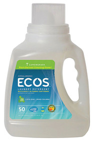3 PACK of Earth Friendly Ecos Laundry Detergent Lemongrass -- 50 fl oz