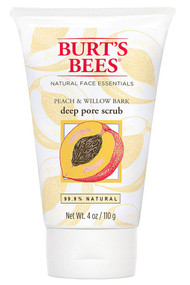 Burt's Bees Deep Pore Scrub Peach and Willowbark - Exfoliating Facial Scrub -- 4 fl oz