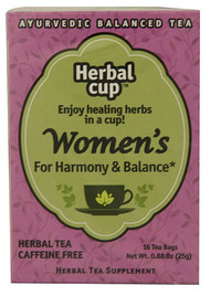 3 PACK of Herbal Cup Ayurvedic Balanced Organic Herbal Tea Womens -- 16 Tea Bags