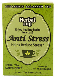 3 PACK of Herbal Cup Ayurvedic Balanced Organic Herbal Tea Anti Stress -- 16 Tea Bags