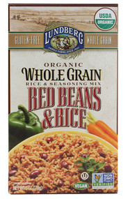 3 PACK of Lundberg Organic Whole Grain Red Beans and Rice -- 6 oz