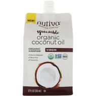3 PACK of Nutiva, Organic Squeezable, Virgin Coconut Oil, 12 fl oz (355 ml)