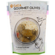 3 PACK of Gaea, Gourmet Olives, Marinated Pitted Green Olives, 4.2 oz (120 g)