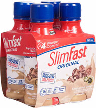 3 PACK of SlimFast Original RTD Meal Replacement Shake Cappuccino Delight -- 4 Bottles
