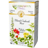 3 PACK of Celebration Herbals Organic Herbal Tea Caffeine Free Black Cohosh Root -- 24 Herbal Tea Bags