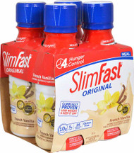 3 PACK of SlimFast Original RTD Meal Replacement Shake French Vanilla -- 4 Pack