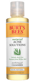 3 PACK of Burts Bees Natural Acne Solutions Purifying Gel Cleanser Face Wash for Oily Skin -- 5 fl oz