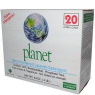 3 PACK of Planet Ultra Powdered Laundry Detergent Free & Clear -- 64 oz