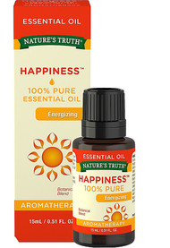 3 PACK of Natures Truth Energizing 100% Pure Essential Oil Happiness -- 0.51 fl oz