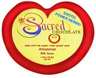 3 PACK of Sacred Chocolate Heart Bar Amazonian -- 1.44 oz