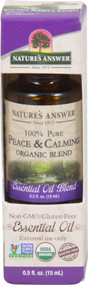 3 PACK of Natures Answer 100% Pure Organic Essential Oil Blend Peace & Calming -- 0.5 fl oz