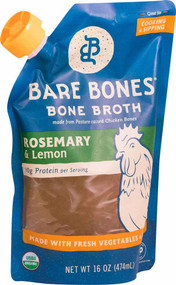 3 PACK of Bare Bones Bone Broth Paleo Rosemary & Lemon -- 16 fl oz