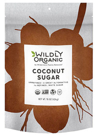 3 PACK of Wildly Organic Coconut Sugar -- 16 oz