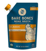 3 PACK of Bare Bones Bone Broth Paleo Organic Chicken Classic -- 16 fl oz