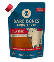 3 PACK of Bare Bones Bone Broth Paleo Grassfed Beef Classic -- 16 fl oz