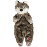 3 PACK of Ethical Pet Products Furzz Plush Dog Toy Gray Wolf -- 1 Toy