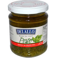 3 PACK of Delallo Simply Pesto Traditional Basil -- 6.35 oz