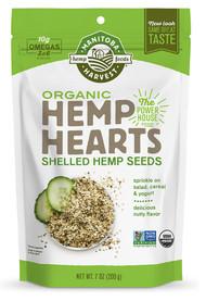 3 PACK of Manitoba Harvest Organic Hemp Hearts Raw Shelled Hemp Seeds -- 7 oz