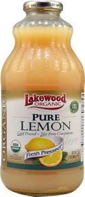 3 PACK of Lakewood Organic Pure Juice Fresh Pressed Lemon -- 32 fl oz
