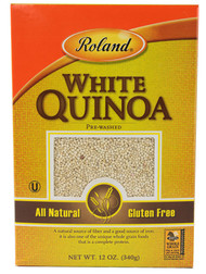 3 PACK of Roland White Quinoa Pre-Washed -- 12 oz