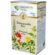 3 PACK of Celebration Herbals Organic Herbal Tea Caffeine Free Ashwaganda Root -- 40 g