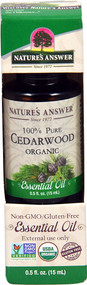 3 PACK of Natures Answer 100% Pure Organic Essential Oil Cedarwood -- 0.5 fl oz
