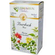3 PACK of Celebration Herbals Organic Burdock Root Tea Caffeine Free -- 24 Herbal Tea Bags