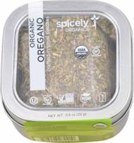 3 PACK of Spicely Organics Oregano Tin -- 0.8 oz