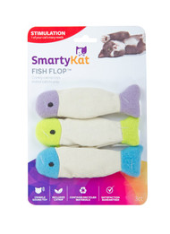3 PACK of SmartyKat Fish Flop Catnip & Crinkle Toys -- 3 Toys