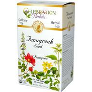 3 PACK of Celebration Herbals Organic Fenugreek Seed Tea Caffeine Free -- 24 Herbal Tea Bags