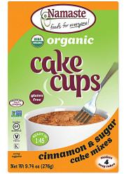 3 PACK of Namaste Foods Organic Cake Cup Mix Packs Gluten Free Cinnamon Sugar -- 4 Packs