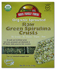 3 PACK of Mauk Family Farms Organic Sprouted Raw Crusts Green Spirulina -- 4 oz