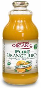 3 PACK of Lakewood Organic Pure Juice Fresh Pressed Orange -- 32 fl oz