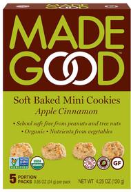 3 PACK of MadeGood Apple Cinnamon Cookies -- 5 Packets