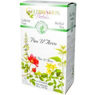 3 PACK of Celebration Herbals Pau D'Arco Tea Caffeine Free -- 24 Herbal Tea Bags