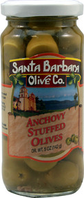 3 PACK of Santa Barbara Olive Co. Stuffed Olives Anchovy -- 5 oz