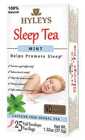 3 PACK of Hyleys Sleep Tea Peppermint -- 25 Tea Bags