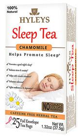 3 PACK of Hyleys Sleep Tea Chamomile -- 25 Tea Bags