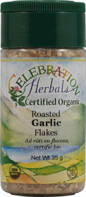 3 PACK of Celebration Herbals Organic Roasted Garlic Flakes -- 35 g
