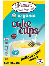 3 PACK of Namaste Foods Organic Cake Cup Mix Packs Gluten Free Yellow Cake -- 4 Packs