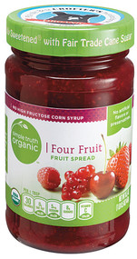 3 PACK of Simple Truth Organic Fruit Spread Four Fruits -- 16.5 oz