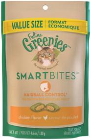 3 PACK of Greenies Feline Smartbites Hairball Control Treats Chicken -- 4.6 oz