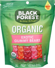 3 PACK of Black Forest Organic Exotic Gummy Bears Grapefruit, Blood Orange, Blueberry-Pomegranate -- 8 oz