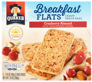 3 PACK of Quaker Breakfast Flats Crispy Snack Bars Cranberry Almond -- 5 Bars